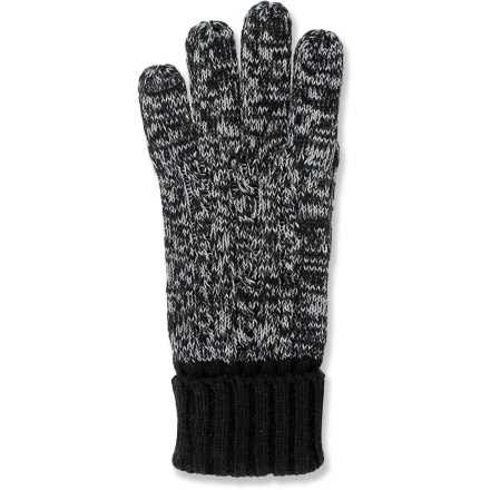 Control your smartphone, tablet or other touch-screen device while keeping your hands warm with the casual Grandoe Infinity Touch Screen gloves. Buttery soft cashmere/polyester blend gloves have conductive threads woven in to allow you to operate your touch-screen device without taking the gloves off. - $8.83