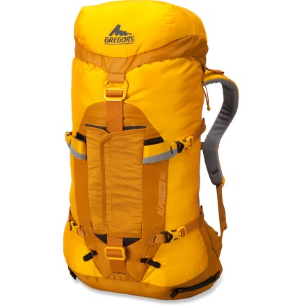 Climbing The customizable Gregory Alpinisto 35 pack is an ultralight peak bagger that features removable hipbelt padding, bivy pad, framesheet and stay to shave off up to 35% of the weight. - $199.00