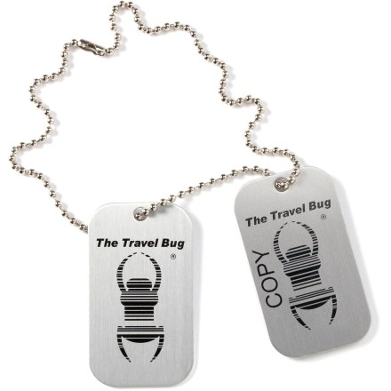 Camp and Hike Add a whole new dimension of fun to your geocaching adventures with these trackable ''travel bugs'' from Groundspeak! Travel bugs are pairs of small, durable metal tags; cache one tag to start it on its journey and keep its twin for reference. A unique serial number is stamped into each pair of tags for easy tracking and identification. Each travel bug gets its own tracking web page; simply register bug on Geocaching.com. Follow along online as finders enter notes to detail your travel bug's journey from cache to cache and person to person. - $5.50