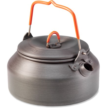 Camp and Hike The handy-size GSI Halulite tea kettle provides the efficient heat conductivity of hard-anodized alloy to save you time and fuel when boiling water. - $24.95