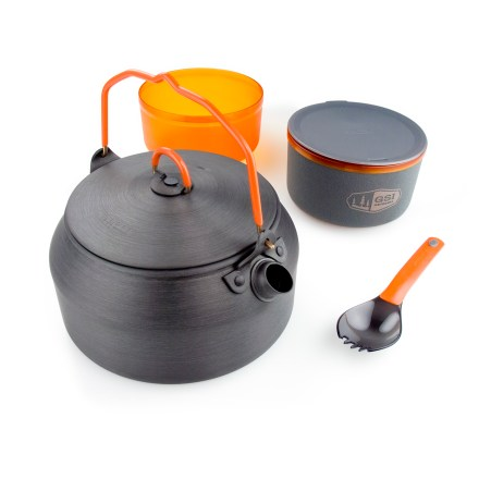Camp and Hike The GSI Halulite Ketalist cookset is well suited for solo travelers who enjoy hot drinks and quick meals while on the trail. - $34.95