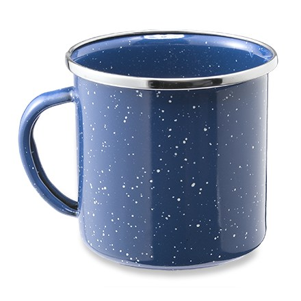 Camp and Hike This baked enamelware cup is rugged and easy to clean--great for cabin or camp. - $4.95