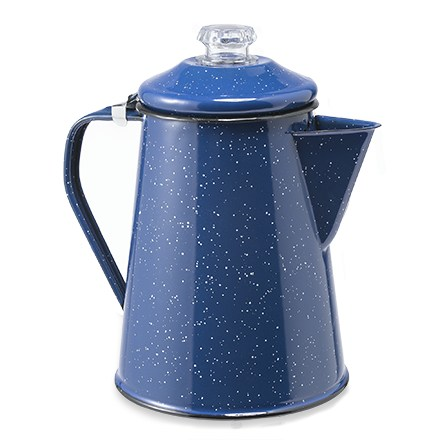 Camp and Hike Brew-up fresh perked coffee in the cabin or at the camp with the attractive GSI Enamelware coffee pot. - $24.95