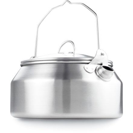 Camp and Hike With a classic design and high-quality material, the GSI Glacier Stainless-Steel tea kettle will give you years of use. - $24.95