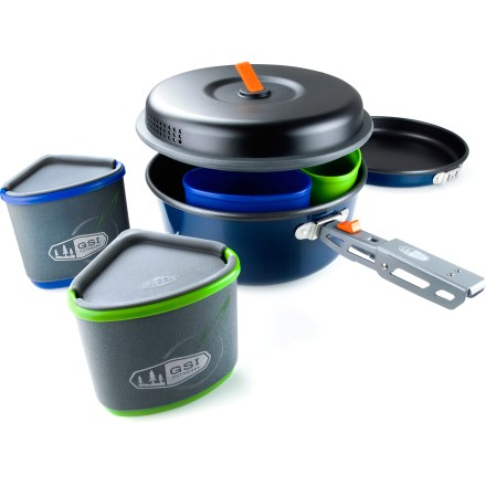 Camp and Hike Spark your stove and get a hot meal going with the GSI Bugaboo Backpacker cookset. It has just what you need to feed 2 hungry backpackers. - $74.95