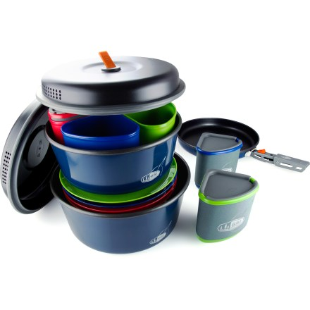 Camp and Hike The GSI Bugaboo Camper cookset is fully equipped to meet your needs on a 4-person backpacking trip or car camping adventure. - $109.95