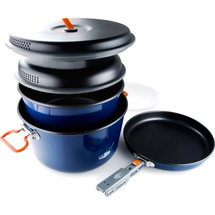 Camp and Hike Whip up large meals to satisfy the hunger of a group of hikers with the GSI Bugaboo Base Camper cookset. - $94.95