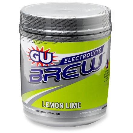 Camp and Hike GU Electrolyte BrewTM drink mix helps you replenish essential sodium, potassium and carbohydrates to bring your body back into balance and keep you performing at your best. - $15.93