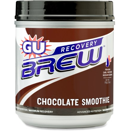 Camp and Hike This canister of GU Recovery Brew(TM) drink mix helps you replenish energy and rebuild muscles after an intense workout. - $19.93