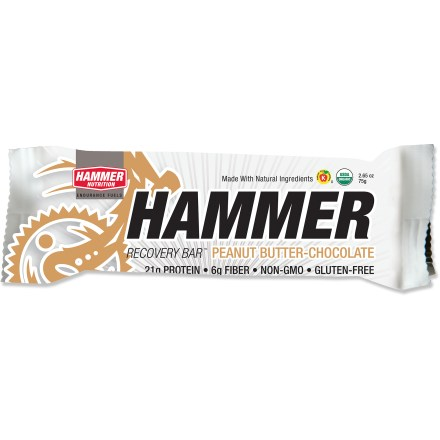 Camp and Hike After an intense workout, recharge with the Hammer Nutrition Recovery bar. It's fortified with vitamins and minerals, and is a good source of calcium, magnesium and potassium. - $1.93