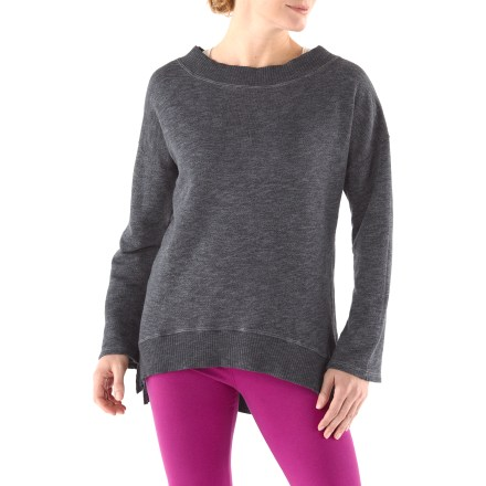 Fitness The Hard Tail Modern sweatshirt excels during tough yoga practices, light exercise and serious lounging around the house. The Hard Tail Modern sweatshirt features a cotton, polyester and rayon fabric blend that offers softness, breathability and a smooth feel against skin. - $64.93