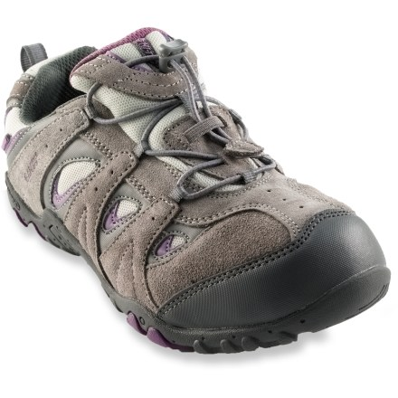 Camp and Hike The girls' Hi-Tec Palo Alto WP Jr. shoes supply great all-around performance for kids who go from playgrounds and sidewalks to parks and paths. - $11.83