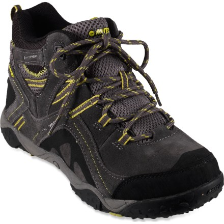 Camp and Hike They'll be set to tackle new trails in the Hi-Tec Total Terrain Mid WP hiking boots, thanks to waterproof protection along with sturdy construction and support. - $29.83