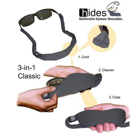 Entertainment Thanks to its patented 3-in-1 system, this is an eyewear retainer, a soft case and a cleaning cloth all in one! - $7.95