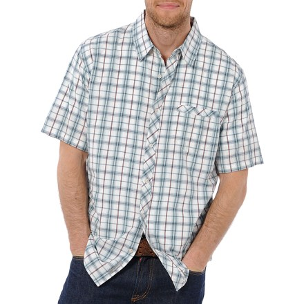 Make your mark this summer with the stylish Horny Toad Mickey shirt. Made from certified 100% organic cotton for breathable comfort and easy care. Bias-cut yoke and pocket trim add style. Single chest pocket gives you room to stow a couple small essentials. - $38.93