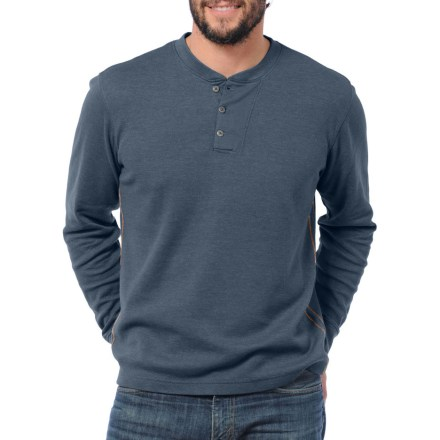 Camp and Hike The Horny Toad Framer Henley shirt is the ideal layer for exploring town or taking a quick hike on a cool fall day. Waffle-knit organic cotton/recycled polyester fabric traps air to help keep you warm on a cool day. Includes rib-knit collar and cuffs. The Horny Toad Framer Henley shirt has contrasting stitching at the sides for added appeal. - $39.93