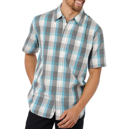 The Horny Toad On The Sly shirt easily pairs with jeans or shorts. It will be your go-to choice for warm-weather fun. Soft organic cotton/recycled polyester blend fabric is soft and comfortable. Chest pocket and contrasting seams. Closeout. - $23.83