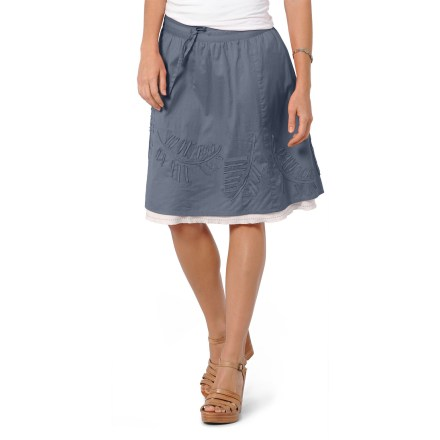 The Horny Toad Firefly skirt is simple and stylish. You'll love the great fit and easy-to-wear style of this skirt. Made from certified 100% organic cotton for breathable comfort and easy care. Contrasting layer at hem. Elastic waist features a drawstring for a secure fit. A-line cut. Closeout. - $27.83