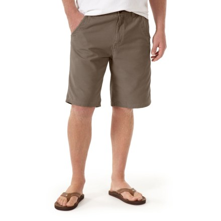 Surf The Horny Toad Cliff shorts are a great choice for warm adventures. Made from certified 100% organic cotton for breathable comfort and easy care. Cliff shorts feature 2 front and 2 rear pockets, a zippered fly and button closure. Closeout. - $23.83