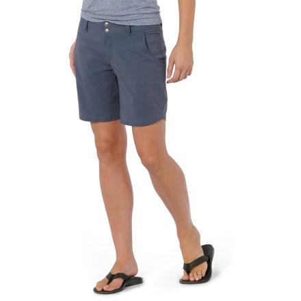 Surf The Horny Toad Wearabout shorts are ready to roam uptown, downtown and off the grid. Soft, quick-drying nylon is blended with a nice dose of spandex for ample stretch, and wicks moisture. Curved front pockets with mesh linings for drainage. Interior stash pocket and 1 zippered back welt pocket. Wearabout shorts have a mid-rise waist and a zipper fly with 2-snap closure. Gusseted crotch allows unrestricted range of motion-no tugging. Closeout. - $25.83