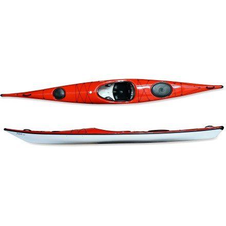 Kayak and Canoe Jump into the highly maneuverable Hurricane Kayaks Tracer 165 kayak and enjoy the simplicity of having all you need for the journey within easy reach. Trylon thermoformed ABS plastic hull material is stiff and light like traditional composite kayaks and offers similar looks, but costs considerably less. Responsive handling, precise turns, effortless tracking and smooth glide make the Tracer 165 a joy to take out for extended trips. Weighing in at 50 lbs., the Tracer 165 offers substantial weight savings over similar rotomolded kayaks. Large hatches and watertight bulkheads keep your touring gear dry and secure; hatches use a flexible plastic to create a seal similar to food-storage containers. Adjustable back band ensures a comfortable experience in the cockpit, and touring-style seat pan offers padded support. Slightly elongated cockpit makes it easy to enter and exit the kayak. Adjustable footbraces and padded foam thighbraces keep the fit comfortable. Drop-down skeg enhances tracking and helps prevent weathercocking in strong winds; skeg controls are located to the right of the cockpit. Bow and stern deck rigging keeps extra gear within easy reach. Carry handles on bow and stern ease transport to and from the water. - $1,485.93