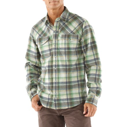 Camp and Hike The Ibex Taos Plaid shirt is the top you want for a cool day spent strolling through town or taking a quick hike in the woods. 20.5-micron merino wool is blended with nylon in a lightweight twill weave; fabric wicks moisture and breathes to regulate temperature for outstanding comfort. Includes snaps down the front and on the 2 chest pockets. Machine washable. The Ibex Taos Plaid shirt has a semifitted cut. - $129.93