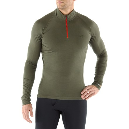 Camp and Hike The Bodyfit 200 Mondo underwear zip T-Neck from Icebreaker has great versatility, taking you from mountain biking, hiking to spring skiing. - $49.93