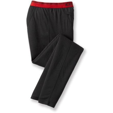 The Icebreaker Bodyfit 150 long underwear bottoms are close fitting and highly breathable for year round wear. Made of soft, non-irritating merino wool, the Icebreaker Bodyfit 150 long underwear bottoms dry quickly and resist odors naturally. Merino wool wicks away moisture and breathes to regulate temperature for outstanding comfort in a variety of conditions. With a UPF rating of 50+, fabric offers very good protection from UV light. Bottoms feature a traditional, functional fly; soft elastic waistband and flat-sewn side seams prevent chafing. Gusseted crotch allows unrestricted range of motion. Easy care: machine wash and dry on cool temperature setting. - $33.83