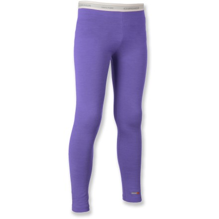 Camp and Hike The comfortable Icebreaker Bodyfit 200 Merino Wool leggings for toddlers are an essential layer of clothing for cold days of playing, hiking, snow sports and everyday use. - $19.83