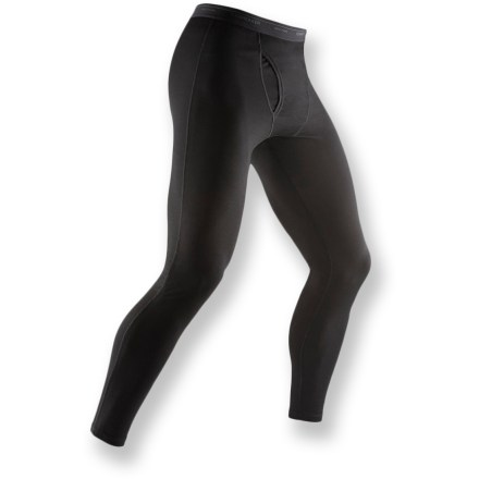 Perfect for spring hikes, late season paddling trips or even another layer under jeans on a cold day, the Bodyfit 200 long underwear bottoms from Icebreaker have many uses. Made of soft, non-irritating merino wool, Icebreaker long underwear resists odors naturally. Merino wool wicks away moisture and breathes to regulate temperature for outstanding comfort in a variety of conditions. With a UPF rating of 50+, fabric offers very good protection from UV light. Icebreaker Bodyfit 200 wool long underwear bottoms have a soft elastic waistband and flat-sewn side seams prevent chafing. Gusseted crotch allows unrestricted range of motion. Functional fly. Easy care: machine wash, line dry. - $40.83