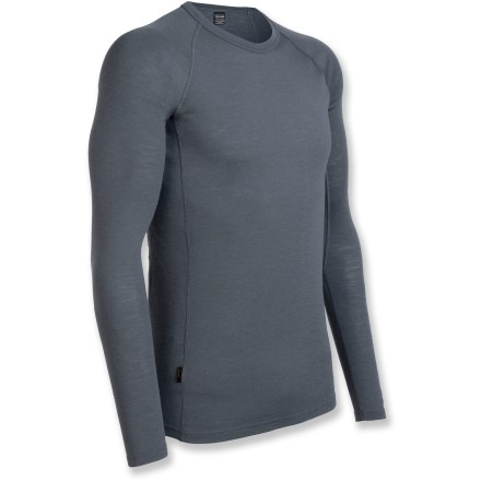 You'll reach first for the Everyday Crew top from Icebreaker because it helps you stay comfortable during cool days no matter the activity. Made of soft, nonirritating merino wool, the Icebreaker Everyday crew top resists odors naturally. Merino wool wicks away moisture, dries quickly and breathes to regulate temperature for outstanding comfort in a variety of conditions. With a UPF rating of 50+, fabric offers very good protection from UV light. Raglan sleeve construction allows unhindered shoulder movement and flatlock seams reduce chafing. Machine washable; line dry or dry flat in shade. - $60.00