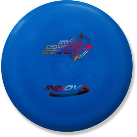 Golf Good glide and predictable flight make the Coyote a great choice for straight, gentle turnover or hyzer shots. With its large diameter and mid-range design, this is a perfect choice for single-disc players. Crafted from a blend of resilient polymers to offer the best combination of grip and durability. PDGA approved for use on all disc golf courses. Sorry, color and weight requests cannot be accommodated; please shop in-store for specific colors and weights. - $12.93