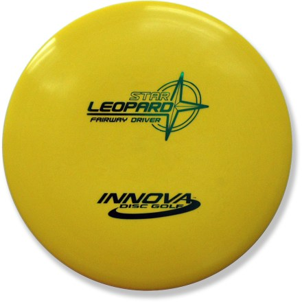 Golf Straight shots, gentle hyzers, turnovers and even rollers-the Star Leopard's versatile design does it all. Light weight and excellent glide make this fairway driver a perfect choice for beginners and young players. Crafted from a blend of resilient polymers to offer the best combination of grip and durability. PDGA approved for use on all disc golf courses. Sorry, color and weight requests cannot be accommodated; please shop in-store for specific colors and weights. - $12.93
