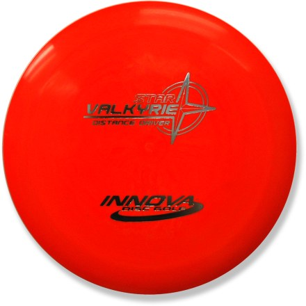 Golf A world record holder for distance, the Star Valkyrie is a great choice for players seeking great glide, turnover performance and extreme range. High speed turn and flight characteristics provide excellent roller shots and tailwind drives. Crafted from a blend of resilient polymers to offer the best combination of grip and durability. PDGA approved for use on all disc golf courses. Sorry, color and weight requests cannot be accommodated; please shop in-store for specific colors and weights. - $12.93