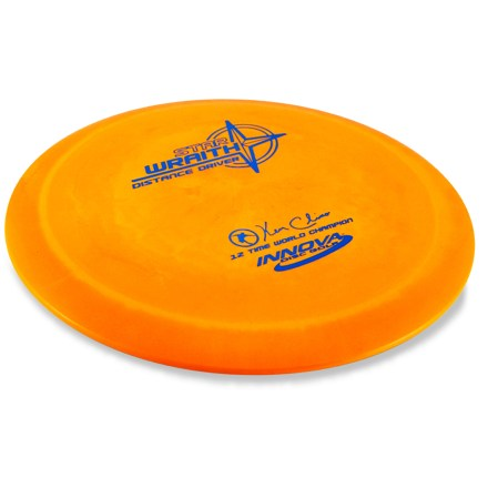 Entertainment A fast, stable flyer-even in windy conditions, the Star Wraith achieves maximum distance, long hyzers and tailwind drives. Intermediate and advanced players will appreciate this disc for side-arm throws and long drives in the wind. Crafted from a blend of resilient polymers to offer the best combination of grip and durability. PDGA approved for use on all disc golf courses. Sorry, color and weight requests cannot be accommodated; please shop in-store for specific colors and weights. - $12.93