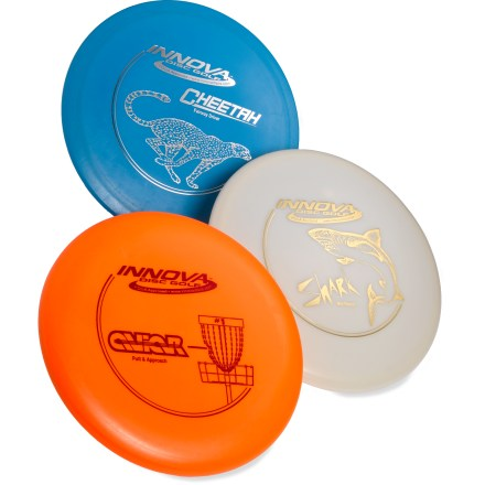 Sports See what fun you've been missing! The DX disc golf set from Innova gives you everything you need to play this fun and popular sport. - $29.00
