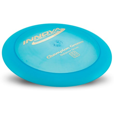 Sports The Innova Champion Groove distance driver disc sports an innovative groove on the underside of the rim that makes it lighter than other wide-rim, high-speed drivers. - $17.00