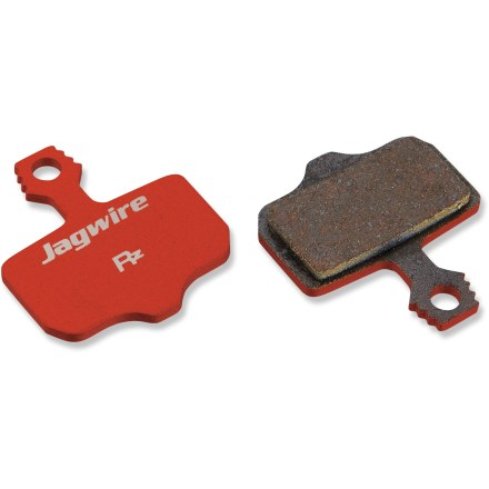MTB Jagwire RedZone Comp disc brake pads work with Avid Elixir hydraulic disc brakes, offering easy pad replacement and fade-resistant performance. - $22.00