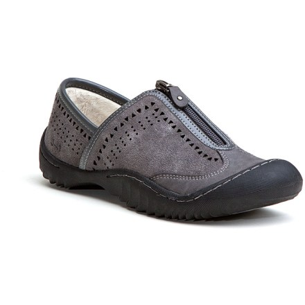 With rugged, travel-inspired outsoles, these cute Sapphire shoes by Jambu help you navigate your own personal roadmap for life. Durable suede leather uppers feature perforations to help your feet breathe. Fleece linings dry quickly and resist odors. Zipper closures let you get in and out quickly. Memory foam footbeds cushion feet for a supportive walking platform. Toe and heel bumpers protect your feet from elements and obstacles. Made with partially recycled rubber, nonmarking J-41(TM) outsoles on the Jambu Sapphire shoes give you reliable traction for everyday wear. Bottoms of outsoles sport an embossed map design for fun, sporty inspiration. - $43.83