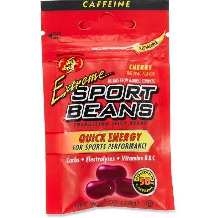 Fitness Extreme Sport Beans, from the makers of Jelly Belly beans, have 50mg of caffeine to give you that extra boost during your workout. - $1.35