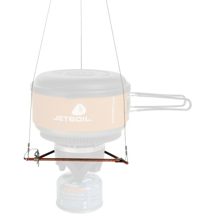 Camp and Hike Especially useful for big wall climbing, ski touring and boating, the Jetboil Hanging Kit provides a place to cook on almost any terrain. - $20.93