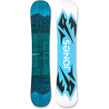 Snowboard The Jones Twin Sister snowboard is the perfect 1-board quiver for women that like to ride it all-crud, pow, ice, the park, trees and pillows. Strap into the twin profile and directional flex of the Twin Sister when you feel like rallying the mountain to be your own personal skate park. From soft stashes to corduroy jump lines, the Twin Sister knows no boundaries and neither should you. Camrock, a distinctive rocker/camber flex pattern, evenly balances tip and tail rocker and slight camber between the bindings. Camrock improves freestyle finesse by keeping your tips playful while maintaining the power and pop of camber underfoot. Mellow Magne-Traction improves edge grip by adding multiple contact points along the running length of the board. Full wood core is comfortable and robust; it's a true all-terrain core and certified by the Forest Stewardship Council. Carbon stringers improve pop and torsional stiffness and increase the longevity of the flex profile; this lightweight layer helps the board perform the same on day 99 as day 1. Film topsheet replaces traditional plastic topsheet, eliminating plastic and reducing the board's weight. Sintered base is durable, absorbs wax fast and retains the wax longer; carbon nano particles and other additives enhance glide. This base is specially developed by Nidecker and is very resistant to impacts. . - $479.00