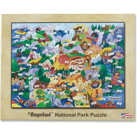 Camp and Hike The colorful Jr. RangerLand National Park puzzle showcases America's natural treasures and displays any of the fun activities available when visiting national parks. Puzzle comes with an insert that informs families about the Junior Ranger program available at national parks throughout the United States. The Jr. RangerLand National Park puzzle is made up of 48 large pieces. - $10.93