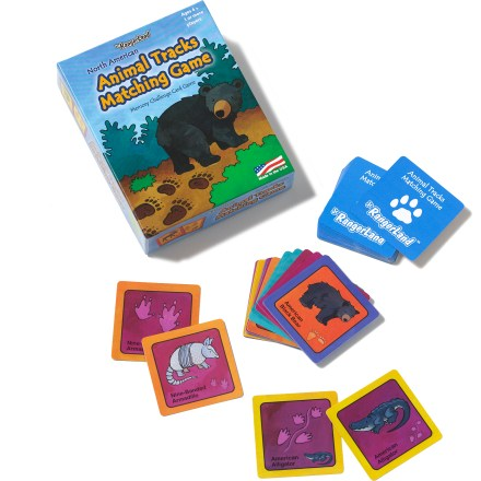 Camp and Hike The fun Jr. RangerLand Animal Tracks matching game tests your memory as you match animals to their tracks. - $10.00