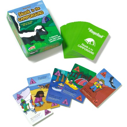 Camp and Hike The hilarious Jr. RangerLand Skunk In The Campground game features cards filled with kid-friendly nature jokes and fun facts. But beware--it stinks to be stuck with the skunk! - $10.00