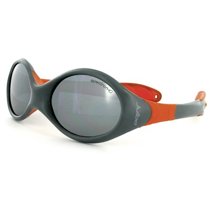 Entertainment There's no wrong way to wear these Julbo Looping II symmetrically shaped sunglasses designed for infants and toddlers who spend time outside with mom and dad. - $32.00