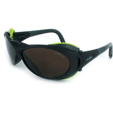Camp and Hike An essential piece of protective equipment for high-altitude climbs, these Julbo Explorer glacier glasses offer exceptional protection for your eyes. - $125.00