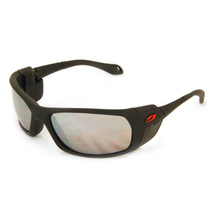 Camp and Hike The Julbo Bivouak glacier sunglasses provide total coverage and protection from harsh sunlight and extreme weather while skiing or mountaineering. - $125.00