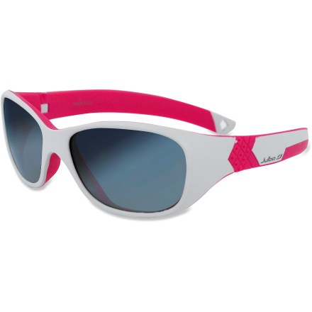 Entertainment The Julbo Solan girls' sunglasses protect the eyes of young adventurers who spend just as much time outside as mom and dad. - $40.00