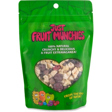 Camp and Hike The Just Tomatoes, Etc.! Just Fruit Munchies mix combines freeze-dried apples, grapes, blueberries, sour cherries, mangos, pineapple and raspberries for a tasty snack you can enjoy anywhere. - $4.93